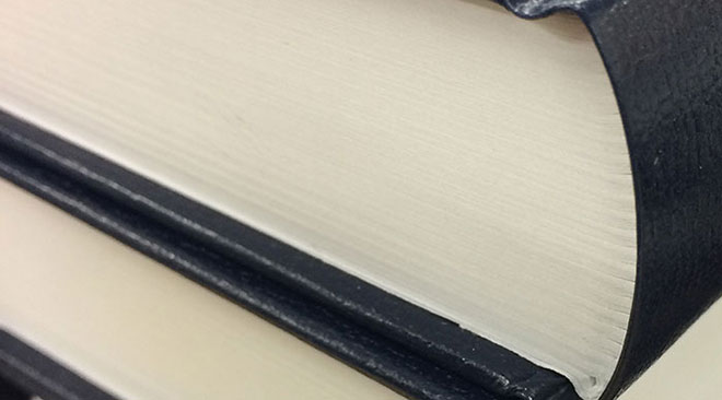 Leather book binding