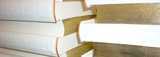 Gilt edges book binding